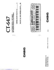 Casio CT-647 Manuals
