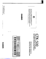 Casio CTK-530 Manuals