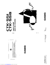 Casio CTK-558 Manuals