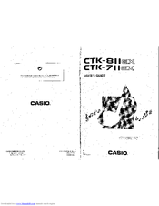 Casio CTK-811EX Manuals