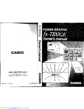 Casio FX-7700GE Manuals