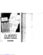 Casio FX-8000G Manuals
