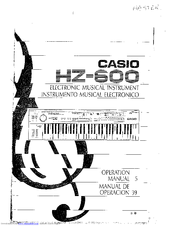 Casio HZ-600 Manuals