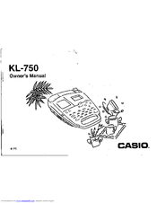 Casio KL-750 Manuals