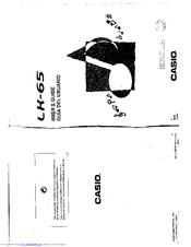Casio LK-65 Manuals