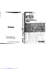 Casio SF-5300 Manuals