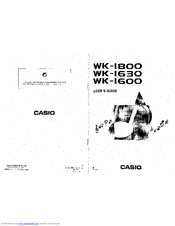 Casio WK-1630 Manuals