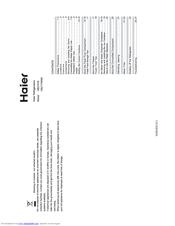 Haier HB21FWNN Manuals