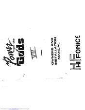 Hifonics Series VII Europa Manuals