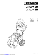 Karcher G 3025 BH Manuals