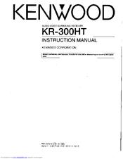 Kenwood KR-300HT Manuals