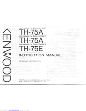 Kenwood TH-75E Manuals