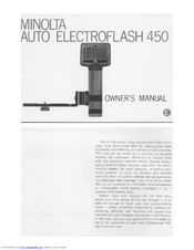 Minolta AUTO ELECTROFLASH 450 Manuals