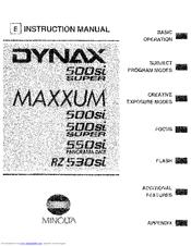 Minolta DYNAX 500si Manuals