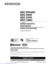 Kenwood KDCX395 Manuals