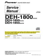Pioneer DEH 1850 Manuals