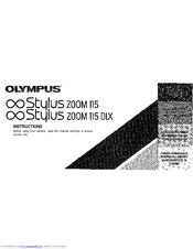 Olympus Stylus Zoom 115 Manuals