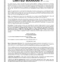 Sony Cdx Gt65uiw Wiring Diagram Vauxhall Astra Towbar Manuals Limited Warranty