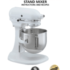 Kitchen Aid K5ss Cabinet Top Decor Kitchenaid Stand Mixer Manuals Instructions And Recipes Manual