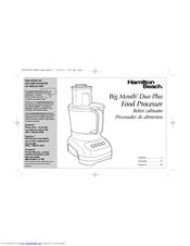Hamilton Beach 70580 Manuals