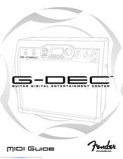 Fender G-DEC Manuals