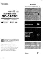 Toshiba SD-6109C Manuals