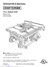 Craftsman 315.218280 Manuals