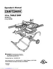 Craftsman 315.218290 Manuals