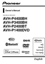 Pioneer AVH P1400DVD Manuals