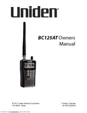 Uniden BC125AT Manuals