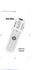Universal Remote Control MX-350 Manuals