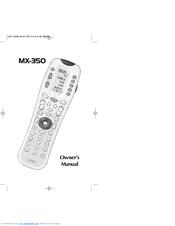 Universal Remote Control MX-350 Manuals