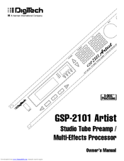 Digitech Artist GSP-2101 Manuals