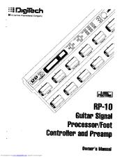 Digitech RP-10 Manuals