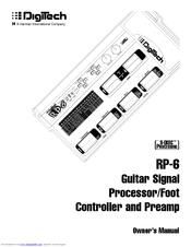 Digitech RP6 Manuals
