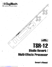 Digitech TSR12 Manuals