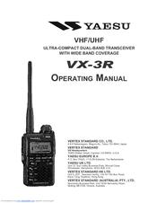 Yaesu VX-3R Manuals