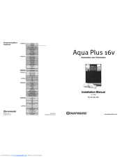 Hayward Aqua Plus 16v PL-PLUS-16V Manuals