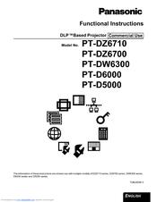 Panasonic DLP PT-DW6300 Manuals