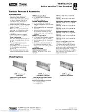 Viking VIPR161SS Manuals