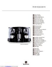 Nespresso GEMINI CS 220 PRO Manuals