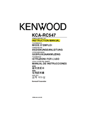 Kenwood KCA-RC547 Manuals