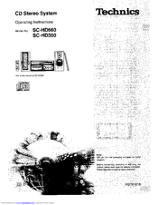 Technics SC-HD560 Manuals