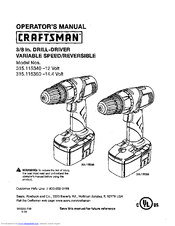 Craftsman 315 Manuals