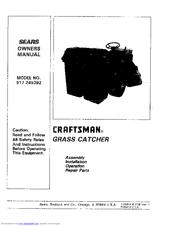 Sears Craftsman 917.249392 Manuals