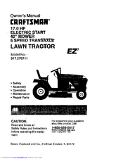 Craftsman EZ3 917.270711 Manuals
