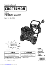 Craftsman 4.0 GPM Honda Powered Pressure Washer Manuals