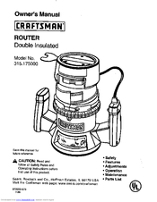 Craftsman 315 Router