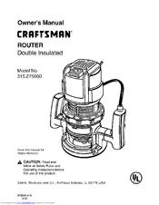 Craftsman 315.275 Manuals