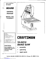 Craftsman 113.244513 Manuals